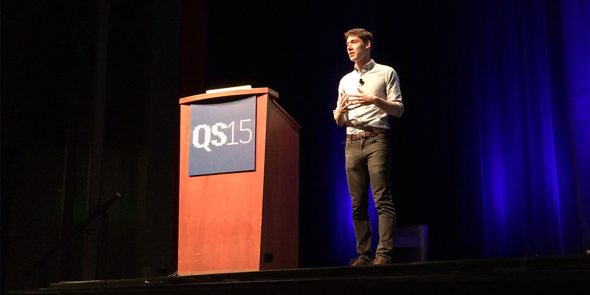 Mark Wilson at QS15 - The Quantified Self conference (photo: Magnus Nilsson)