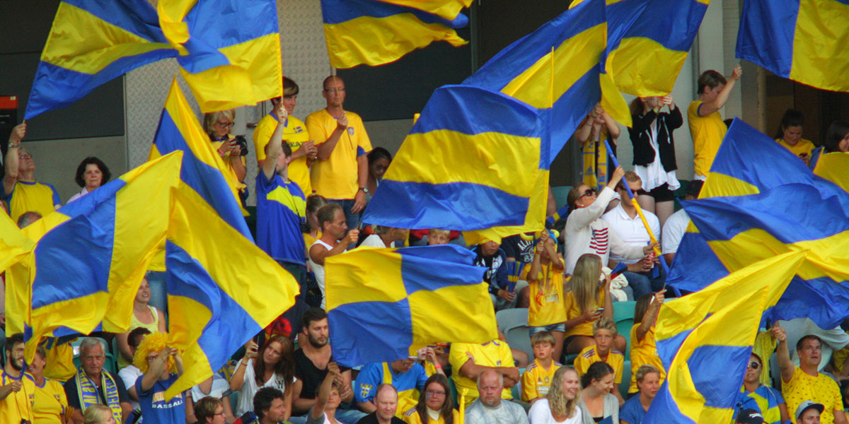 Swedish fans (photo: Blondinrikard Fröberg, Flickr)